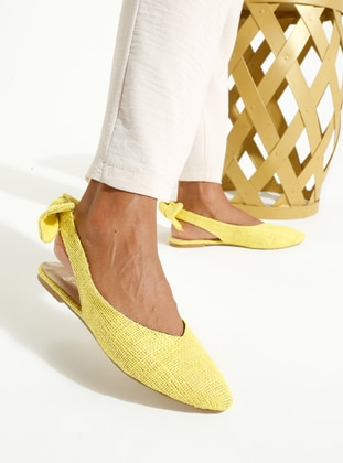 Yellow - Green - Flat - Flat Shoes