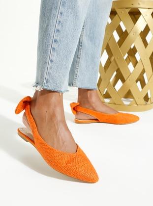 Orange - Flat - Flat Shoes