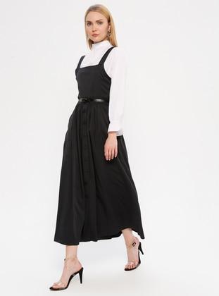 White - Ecru - Dusty Rose - Polo neck - Unlined -  - Dress