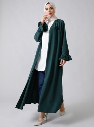 Emerald - Unlined - V neck Collar - Topcoat
