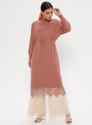 Dusty Rose - Polo neck - Unlined - Acrylic -  - Dress