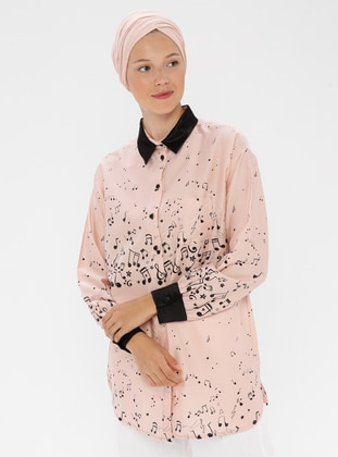 Powder - Multi - Point Collar -  - Blouses