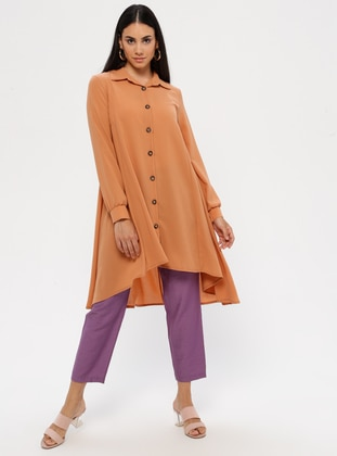 Terra Cotta - Point Collar - Tunic