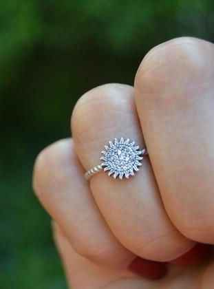 Silver tone - Ring - Artbutika