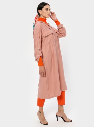 Dusty Rose - Nylon - Viscose - Cardigan