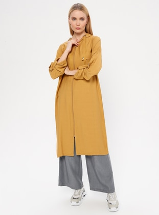 Mustard - Yellow - Nylon - Viscose - Cardigan