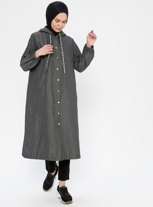 Gray - Stripe - Fully Lined - Topcoat