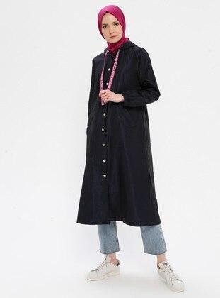 Navy Blue - Stripe - Fully Lined - Topcoat