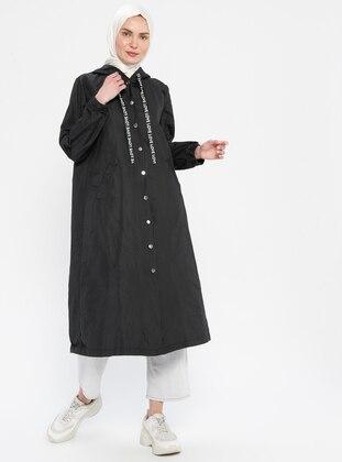 Black - Stripe - Fully Lined - Topcoat