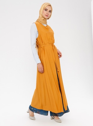 Mustard - Unlined - Viscose - Vest
