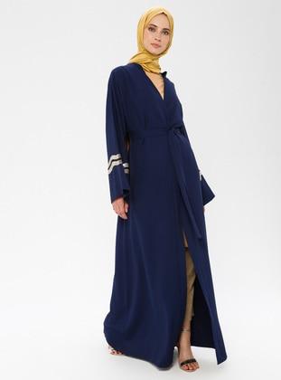 Indigo - Blue - Unlined - Abaya