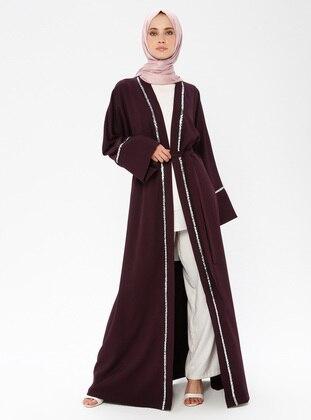 Purple - Unlined - Abaya