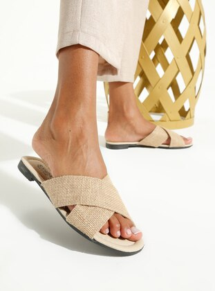Beige - Gray - Sandal - Gray - Sandal - Gray - Sandal - Gray - Sandal - Gray - Sandal - Slippers
