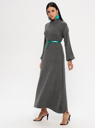 Smoke - Polo neck - Unlined - Acrylic -  - Dress