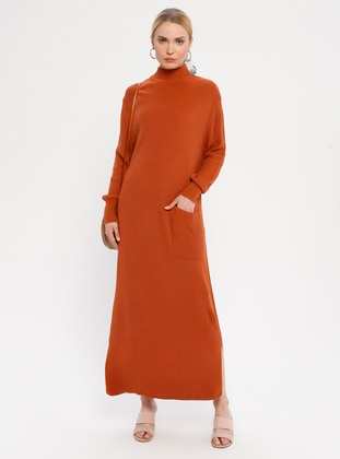 Terra Cotta - Polo neck - Unlined - Acrylic -  - Dress