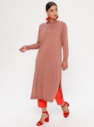 Dusty Rose - Unlined - Acrylic -  - Dress