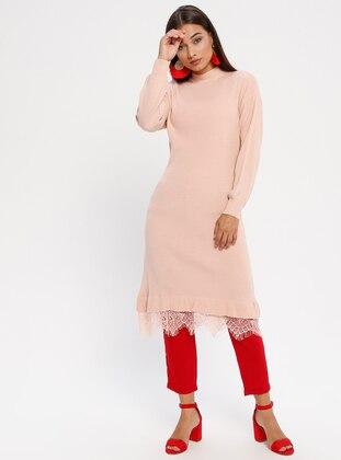 Powder - Polo neck - Unlined - Acrylic -  - Dress