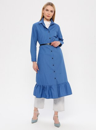 Indigo - Point Collar - Unlined -  - Dress