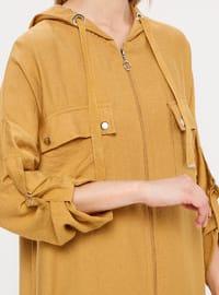 Mustard - Yellow - Nylon - Viscose - Cardigan