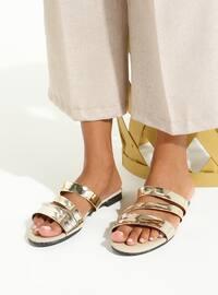 Gold - Sandal - Gold - Sandal - Gold - Sandal - Gold - Sandal - Gold - Sandal - Slippers