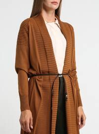 Tan - Shawl Collar - Acrylic -  - Cardigan