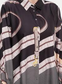 Gray - Black - Multi - Point Collar - Unlined - Plus Size Suit
