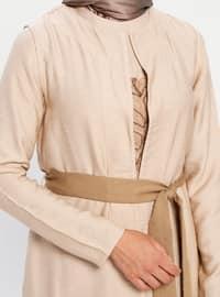 Brown - Multi - Unlined - Suit