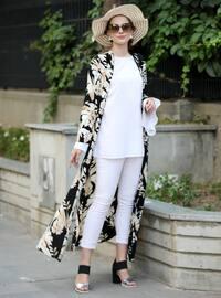 Black - Stone - Stripe - Unlined - Shawl Collar - Jacket
