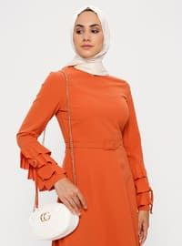 Terra Cotta - Crew neck - Unlined - Dress