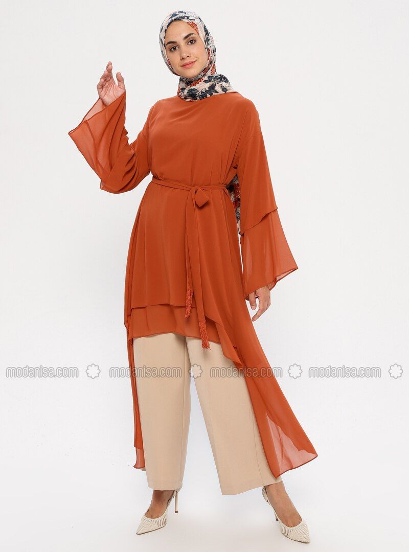 Terra Cotta - Crew neck - Tunic