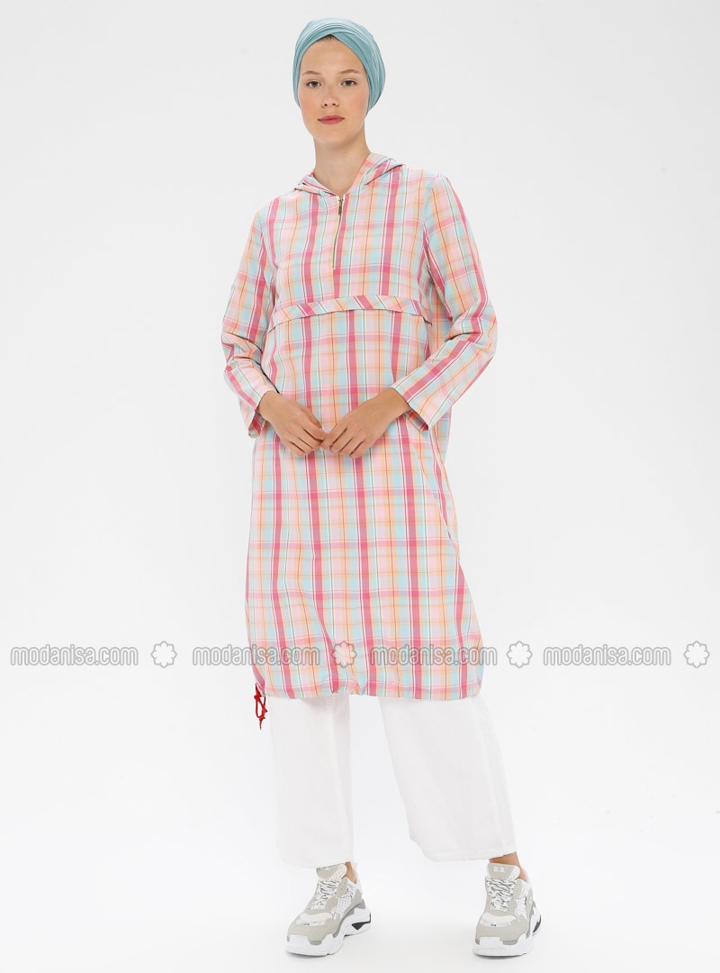 Pink - Plaid - Tunic