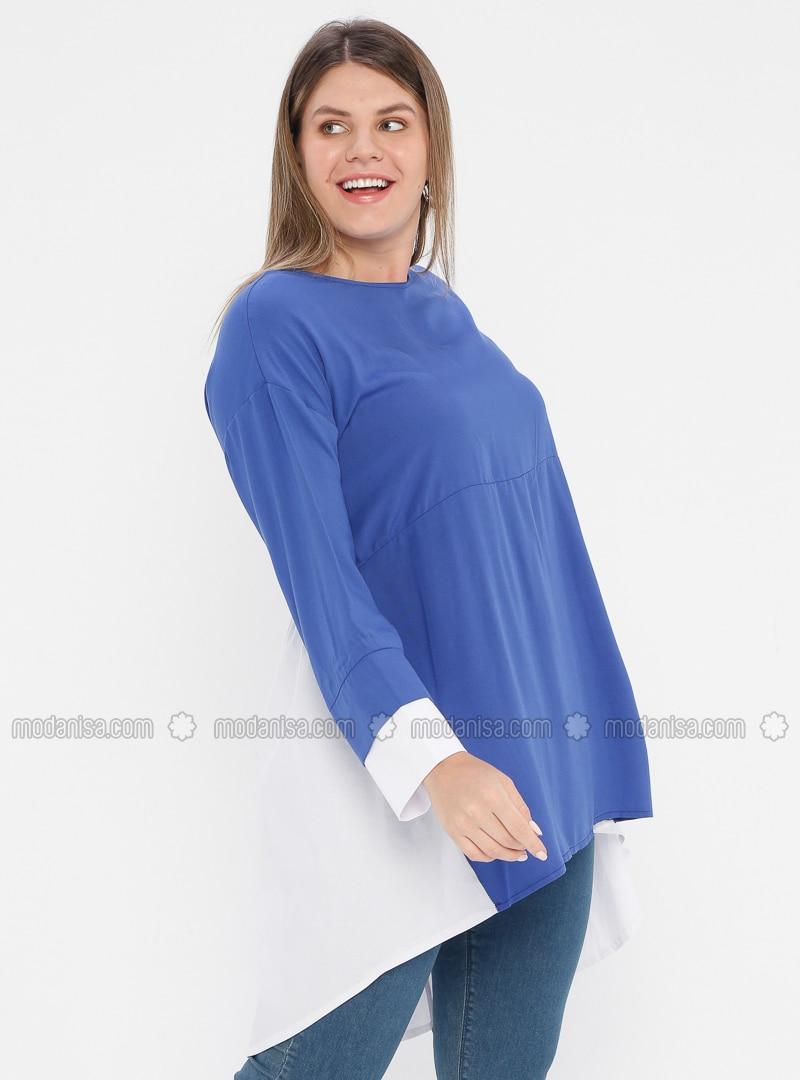 Saxe - Crew neck - Viscose - Plus Size Tunic