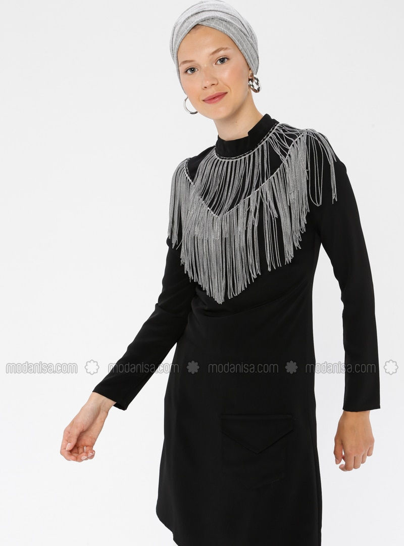 Black - Polo neck - Tunic