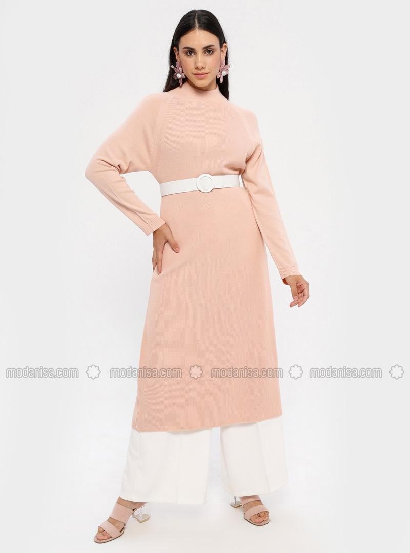puder - rollkragen - ohne innenfutter - acryl - - hijab kleid