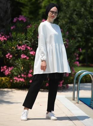 White - Unlined - Cotton - Suit