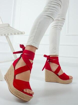 Metal Thread - Red - High Heel - Heels