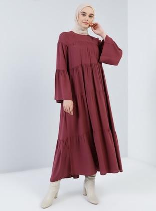 Cherry - Crew neck - Unlined - Viscose - Dress