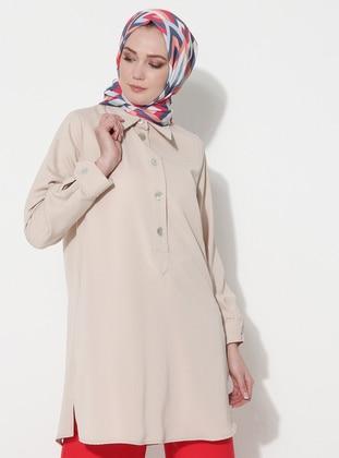 White - Stone - Point Collar - Tunic