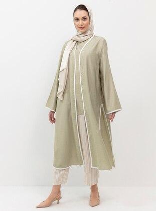 Beige - Linen - Pants