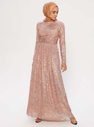 Copper - Crew neck - Fully Lined - Dress