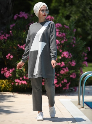 Smoke - Geometric - Unlined - Cotton - Suit
