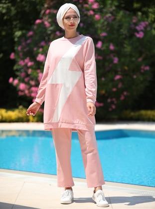 Powder - Geometric - Unlined - Cotton - Suit