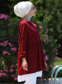 Bordo - Astarsız kumaş - Pamuk - Takım Elbise