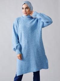 Baby Blue - Blue - Polo neck - Acrylic - - Jumper