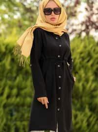 Black - Point Collar - Tunic - La`Zeyn