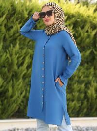 Indigo - Point Collar - Tunic - La`Zeyn