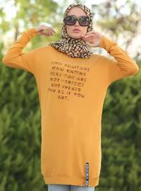 Mustard - Crew neck - Viscose - Tunic