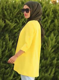 Yellow - Point Collar - Tunic - La`Zeyn