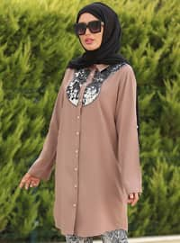 Mink - Point Collar - Tunic - La`Zeyn
