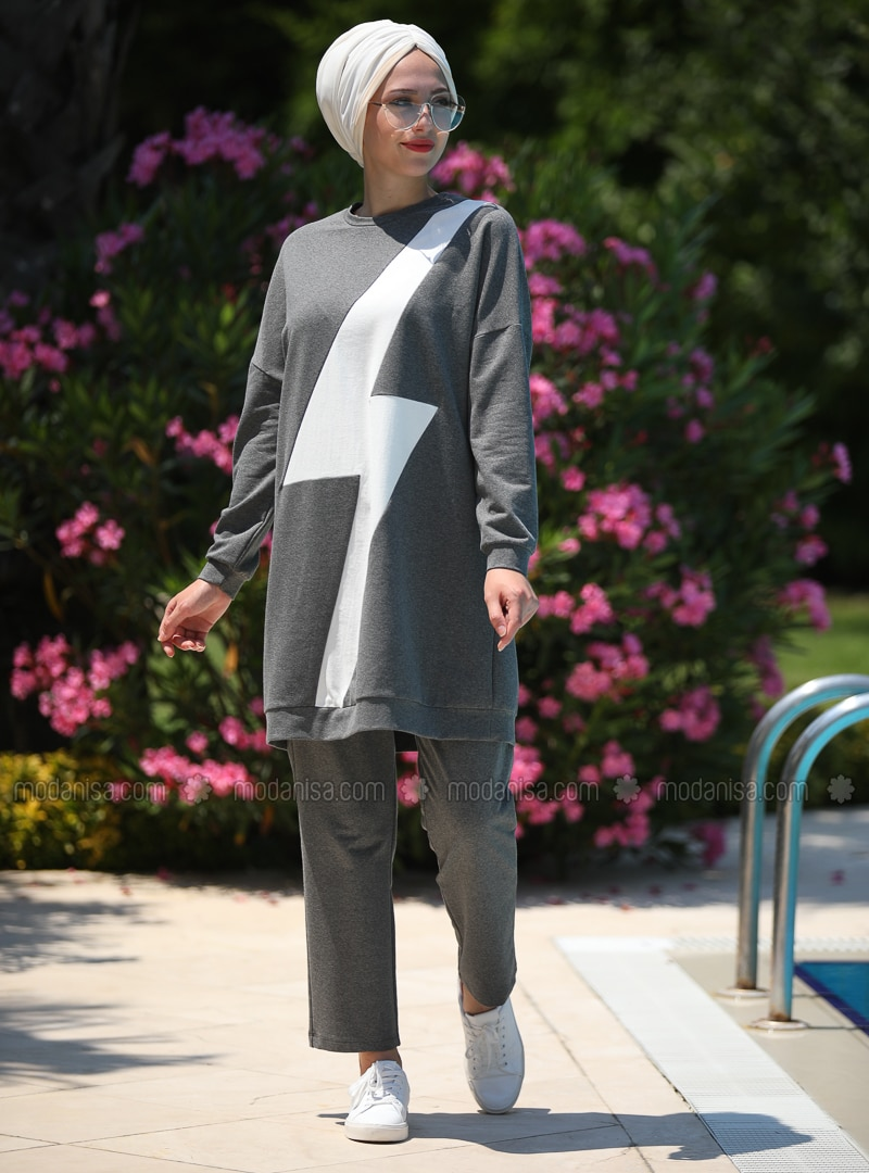 Smoke - Geometric - Unlined - Cotton - Suit